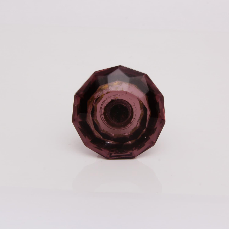 purple glass door knob decorative dresser draw pull by trincaferro. Black Bedroom Furniture Sets. Home Design Ideas