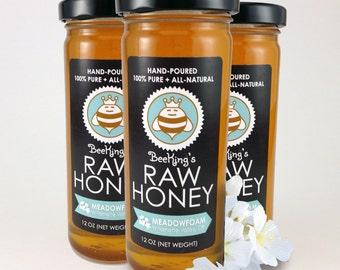 Raw MEADOWFOAM Honey 3-pack (36 oz)