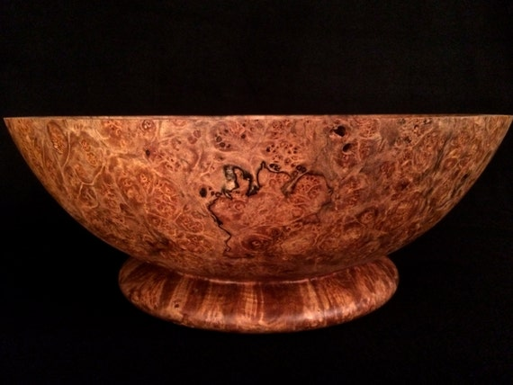 Extra large wood bowl wide gorgeous centerpiece