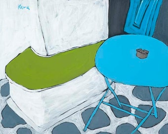 """Kara Asilanis Original Acrylic on Canvas """"I'll Sit Here with You"""""""