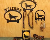 Flat Coat Retriever Item Grouping  Welcome Sign, Time for A Walk Leash Hook, Key Rack, Candle Holder for Yankee Type Jar Candles