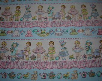 Per yard, Doll Sampler Fabric