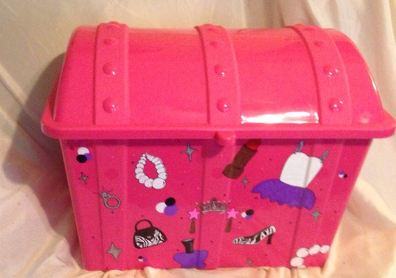 Toy Treasure Chest Beach : Treasure chest toy box by djccreations on etsy