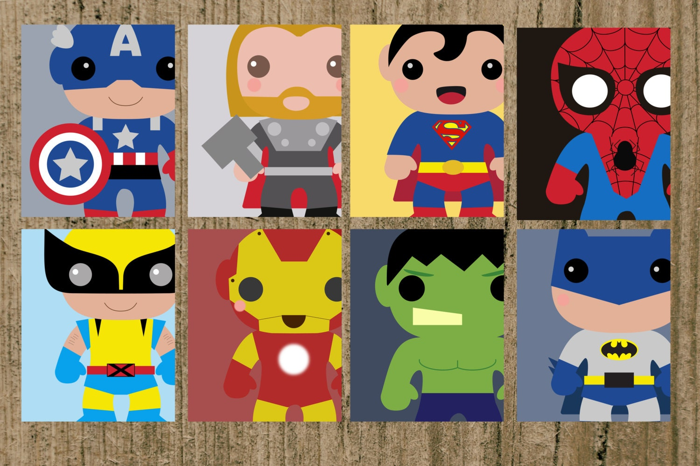 Baby Gear Galore Avengers Superhero Nursery Prints Set Of