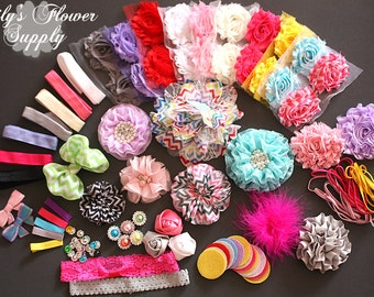 baby shower headband kit deluxe diy hair bow kit baby shower
