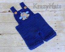Knit baby overall shorties.Size:3m.old. Ready to ship