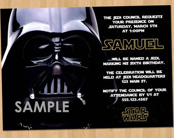 Star Wars Invitation Etsy - Star wars birthday invitation diy
