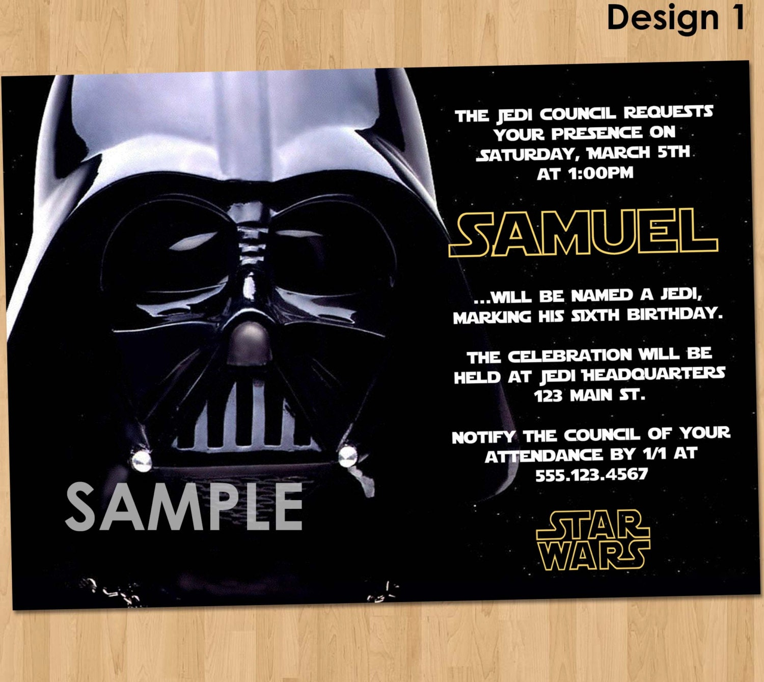 star wars invitation  etsy, Party invitations
