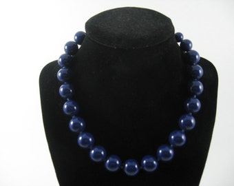 Vintage 1940's 50's    Blue Beaded  Necklace   2014576 - 22