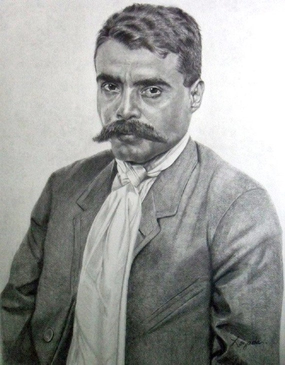 Emiliano Zapata....graphite pencil drawing by DrawingsbyLozada