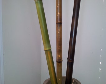 Decorative Bamboo Natural Colors No Paint (Fire Cured) 3 pc. set