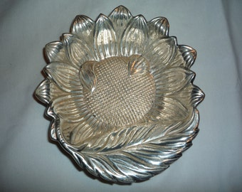 Silverplated Sunflower Candy Bowl