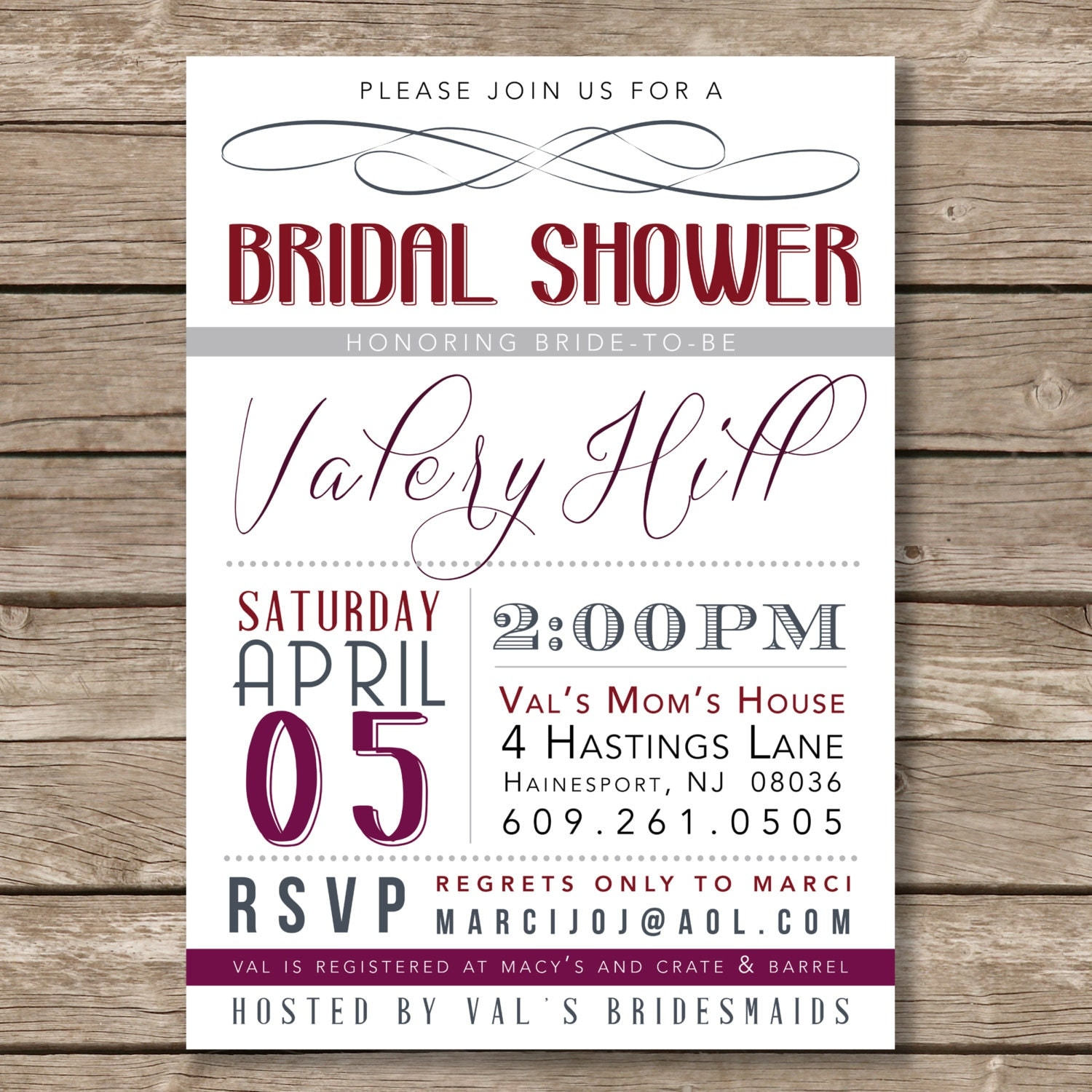 wine colored bridal shower invitations - 28 images - chic burgundy ...