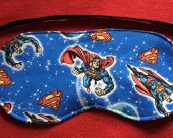 New SUPERMAN Sleep Mask Eye Sleepwear Bedroom Blind Fold Kids Character  Smallville Clothing Accessory