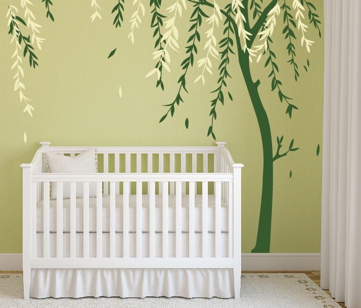 Baby Boy Nursery Ideas Stick On Wall Art Tree Decals For Walls - Baby boy nursery wall decals
