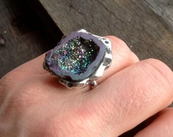 Titanium Geode Ring