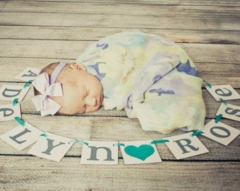 mini Custom Name Banner / Baby Shower Decoration / Kids Room Decor / Child's Name / Personalized Name / Nursery Garland Sign