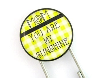 Mom You Are My Sunshine, Jumbo Paperclip Bookmark with Glass Tile