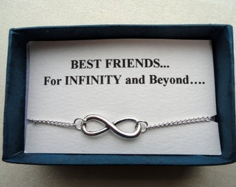 Infinity anklet gift, Friendship gift, Silver infinity ankle bracelet, Bridesmaids gifts, Ankle bracelet UK, Infinity jewelry