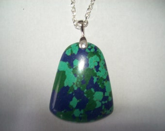 Multicolor Turquoise pendant with chain