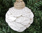 Alice in Wonderland Christmas Ornament Book Page Ornament - CasstheCrafter