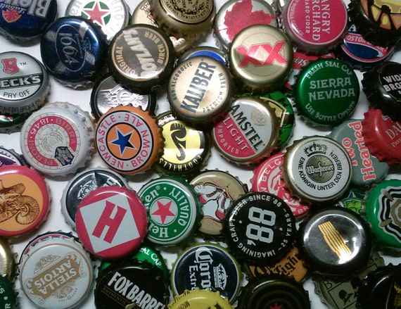 Beer bottle cap craft upcycled beer soda caps cans amp bottles pint