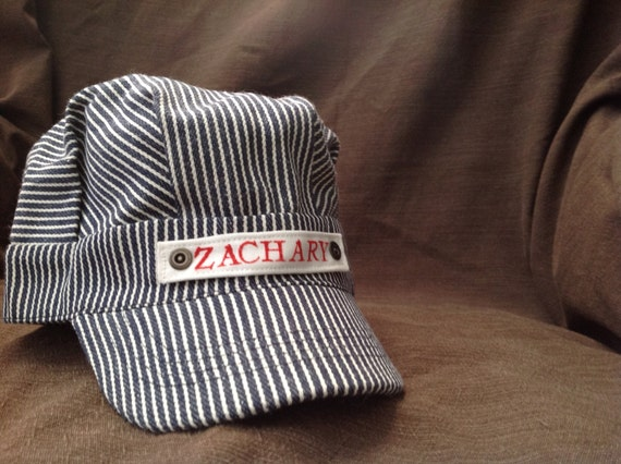 Baby Gifts For Engineers : Personalized train hat birthday gift party favor