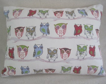 Decorative owl pillow cover
