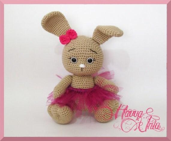Pattern Rabbit Crochet Amigurumi by HavvaDesigns on Etsy