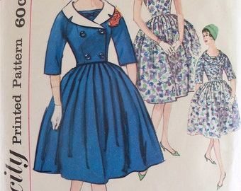 Vintage 1950s Sewing Pattern Simplicity 3303 Womens Dress & Jacket