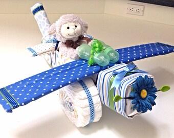 Airplane Diaper Cake