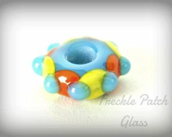 Lampwork Glass Bead,  Handmade, Flameworked,  multi color,  Circus