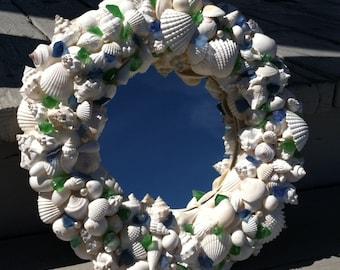 Beach Decor - Round Shell Mirror (RSM002)
