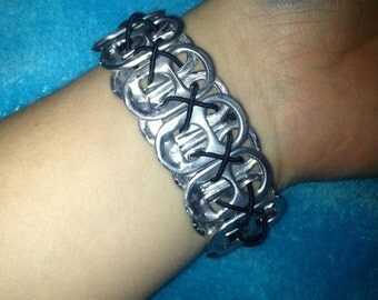 Upcycled Can/Pop Tab Bracelet Cuff for Men and Women