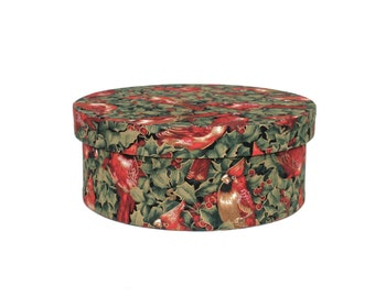 hat box, gift box, ilex, birds, treasury box, flowers