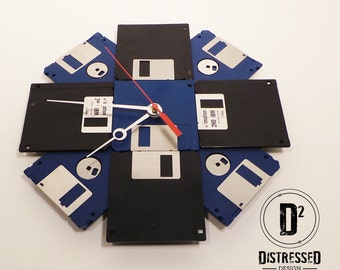 "Floppy Disk Clock - 3.5"" Diskettes"