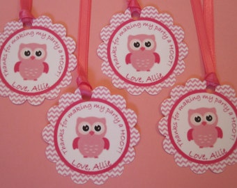 12 Owl Favor Thank You Tags