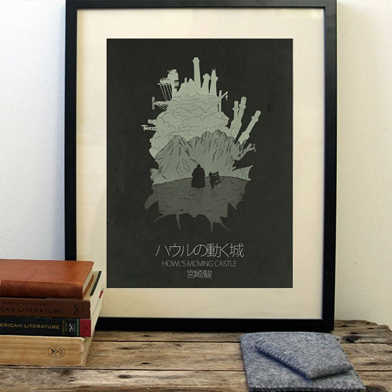 Howl's Moving Castle Poster Minimalist Movie By OurBrokenHouse