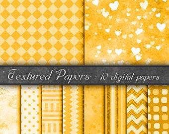 Digital Paper, backgrounds  orange