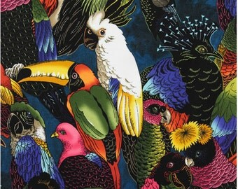 Birds of a Feather Jungle Rainforest Alexander Henry By the Yard
