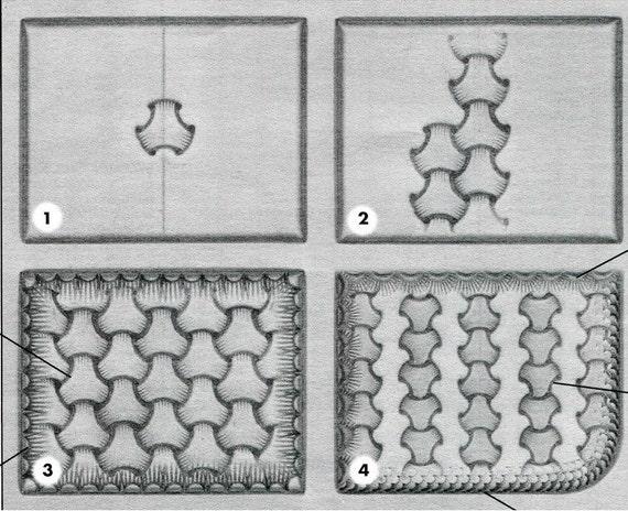 Basketweave leather stamping tool
