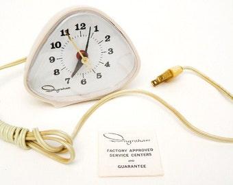 Vintage Original 1970's Ingraham Retro-Futuristic Electric Clock - Made in the USA