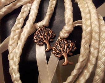 Ivory & Copper Purification Tree of Life Wedding Handfasting Cord ~ Handfasting Ceremony ~ Celtic Handfasting ~ Handfasting Vows