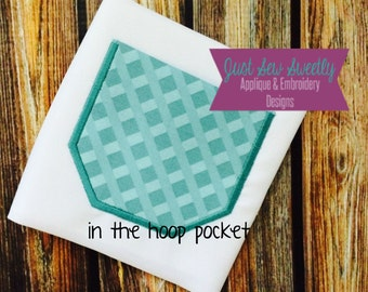 Square Pocket Applique Design - Embroidery Machine Pattern