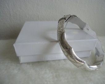 Really Nice .925 Sterling Silver Bamboo Bangle