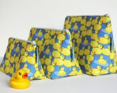 Cute Rubber Duck Make-up and Wash Bag. For Ladies or Gents. Great Gift for all Ages. Different sizes available.