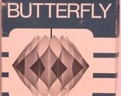 Original Vintage Lars Schioler Butterfly Brand Pendant Model 37 Light Shade kit