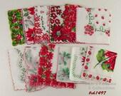 Lot of One Dozen Assorted Vintage Christmas Hankies Handkerchiefs (Inventory #CH1497)