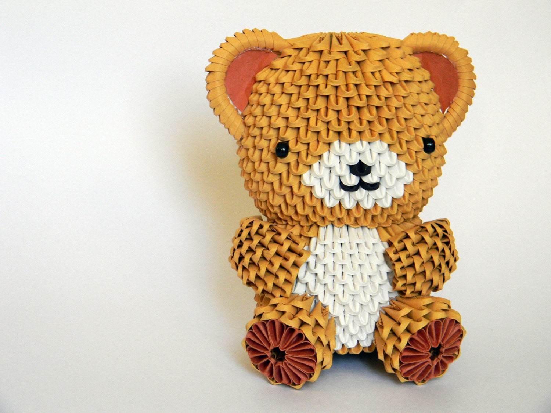 3D Origami Big Teddy Bear by Imagifold on Etsy - photo#11
