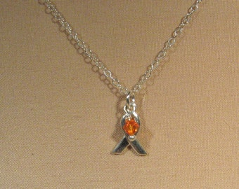 Sterling Silver Leukemia Awareness Necklace (AN-001)